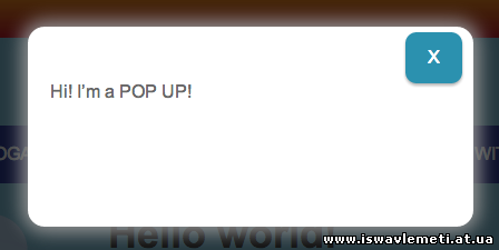 PopUp-ის დადება საიტზე